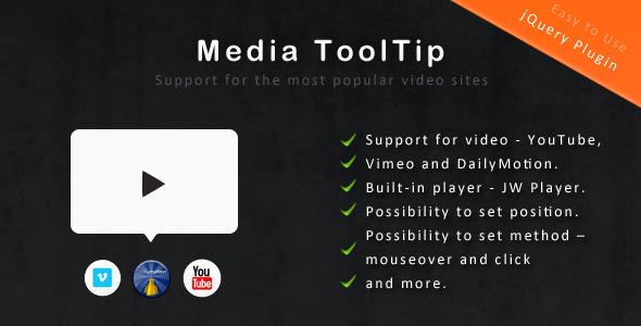 CodeCanyon jQuery Media ToolTip 1409069