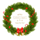 Gift Card With Christmas Wreath