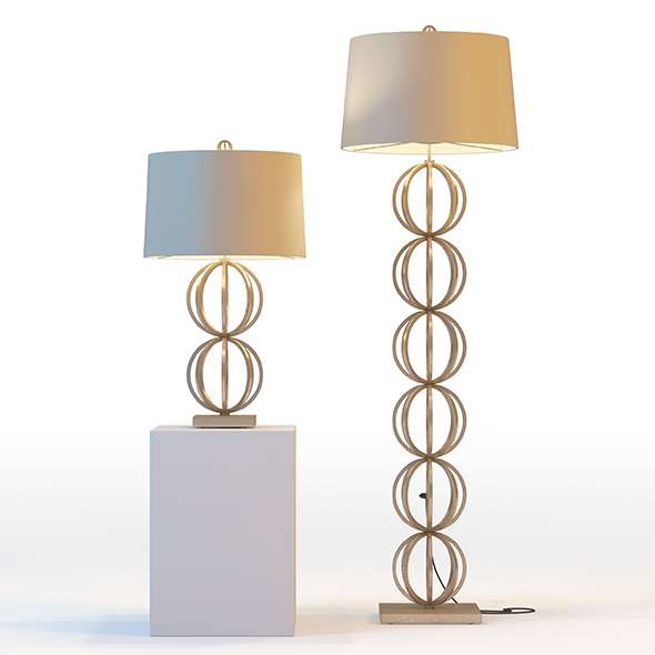 Arteriors Millenium Lamps - 3DOcean Item for Sale