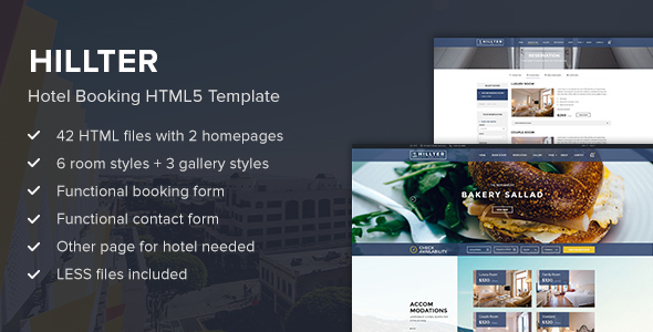 Hillter - Hotel Booking HTML5 Template