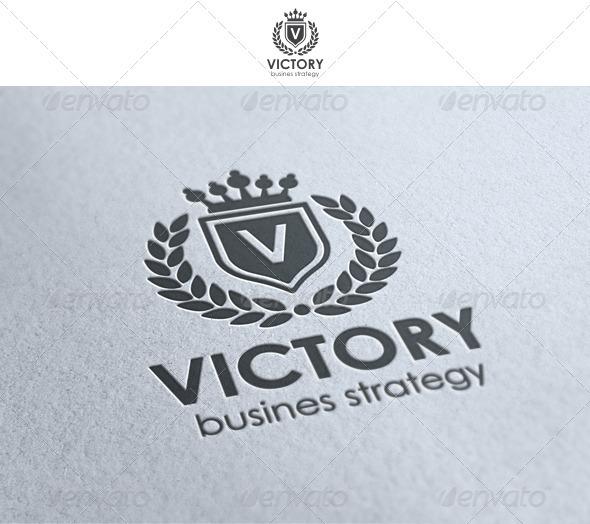 GraphicRiver Victory Heraldic Elegant Logo 1409895