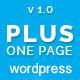 Plus - One Page WordPress Theme - ThemeForest Item for Sale