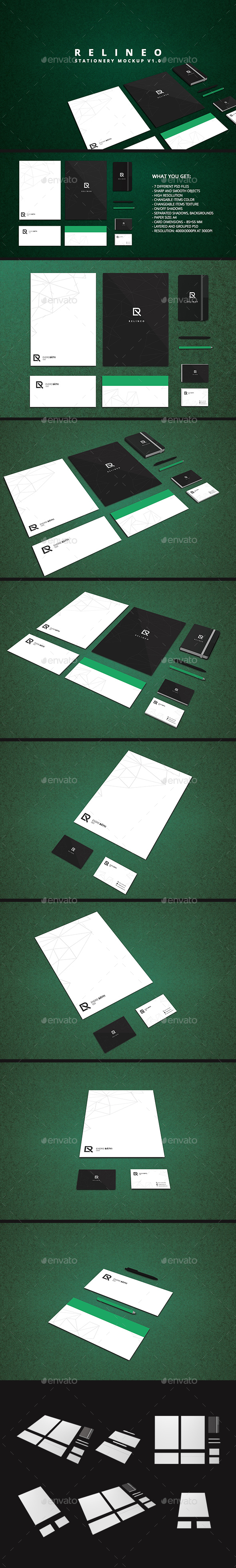Square Coaster Mock-Up Round Corner (Stationery)