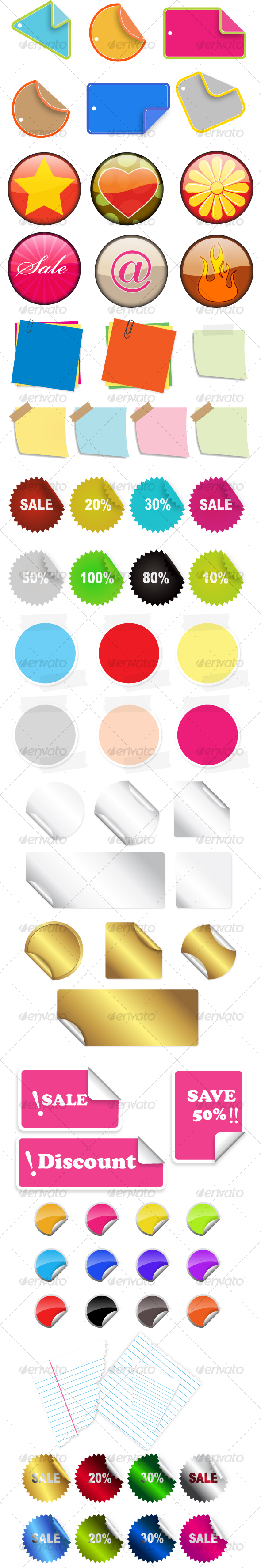 GraphicRiver Vector Stickers and Badges 55851