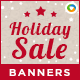 HTML5 Holiday Season Sale Banners - GWD - 7 Sizes