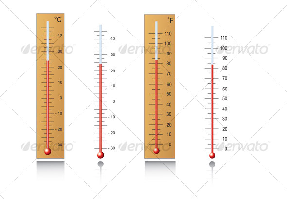 GraphicRiver Thermometers in vector 55860
