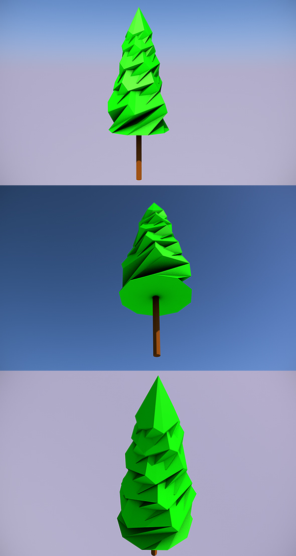 Low Poly Tree - 8 - 3DOcean Item for Sale