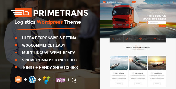 PrimeTrans | Logistics WordPress Theme