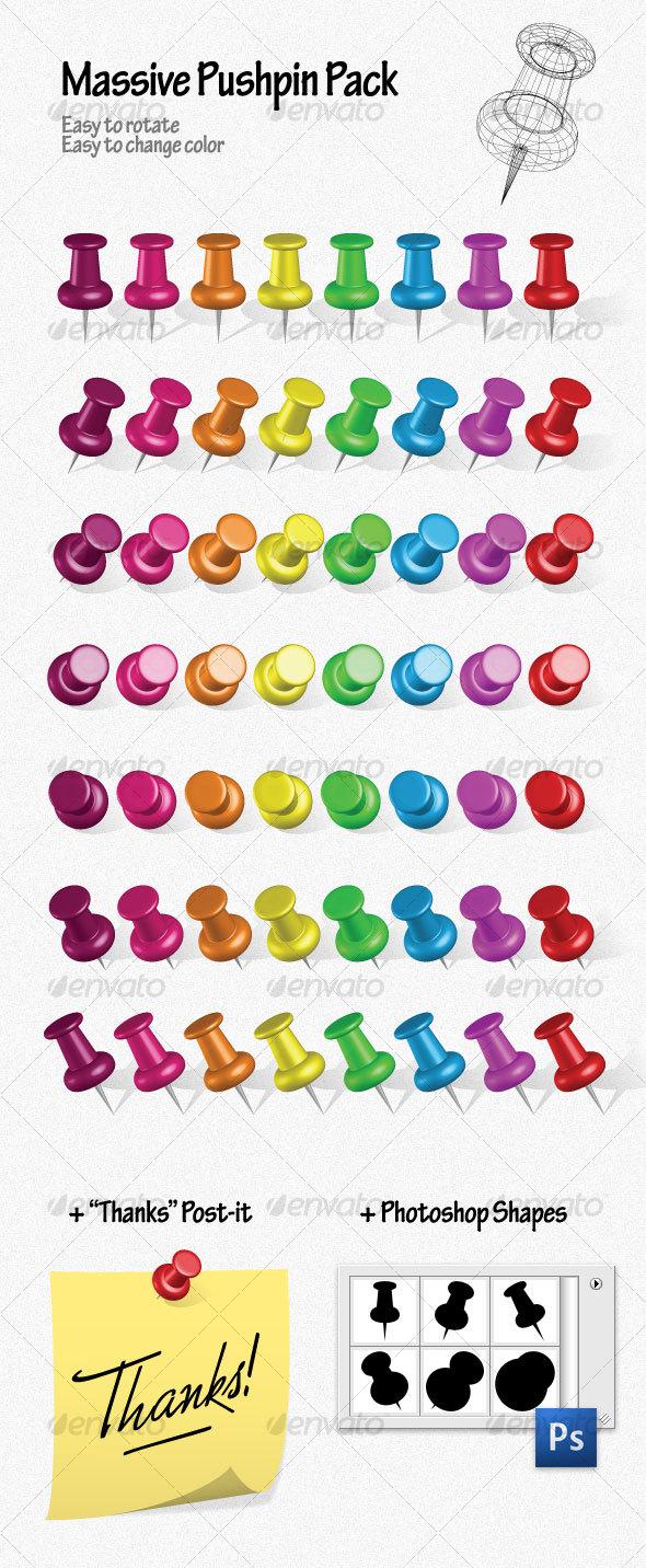 GraphicRiver Massive Pushpin Pack 55880