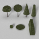 Low Poly Trees and Hedges