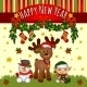 Christmas Card with Santas Helpers