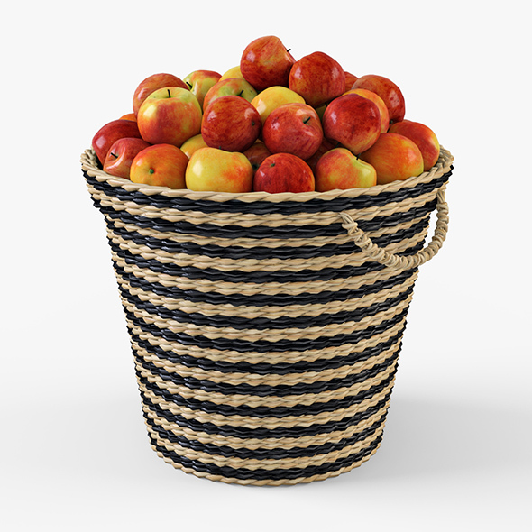 Wicker Apple Basket Ikea Maffens - 3DOcean Item for Sale