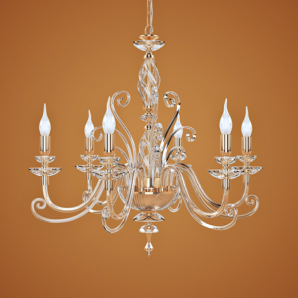 Chandelier Euroluce Lampadari Alicante L6L - 3DOcean Item for Sale