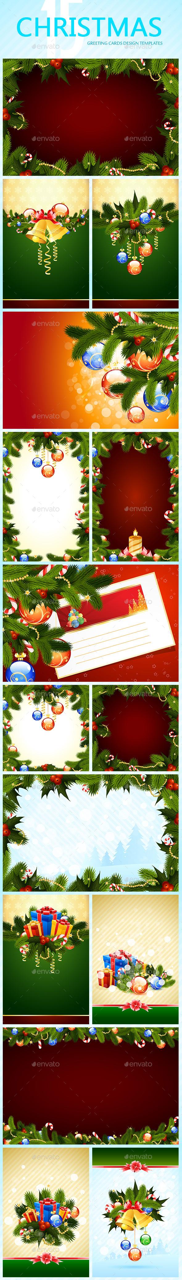 Set of Christmas Greeting Cards