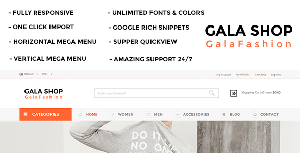Su Gala Shop Responsive Magento Template (Magento) Download
