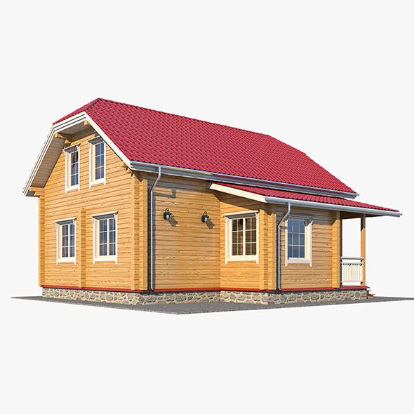 Log House 04 - 3DOcean Item for Sale