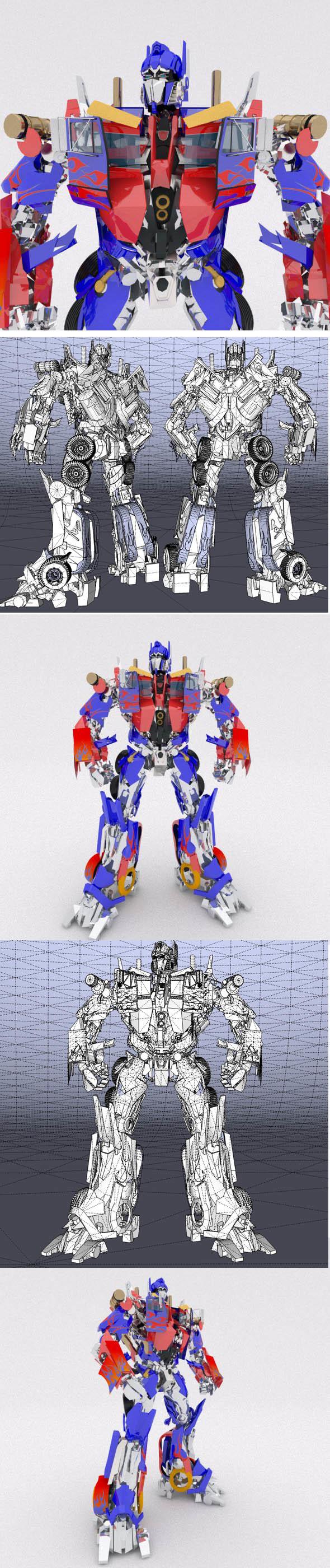 AUTOBOT LEADER Optimus Prime - 3DOcean Item for Sale