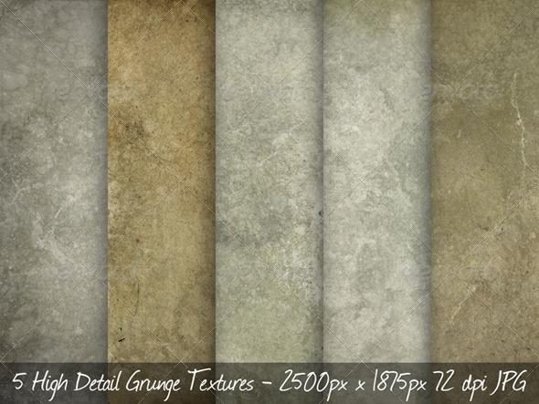 GraphicRiver 5 Concrete Grunge Textures 167834