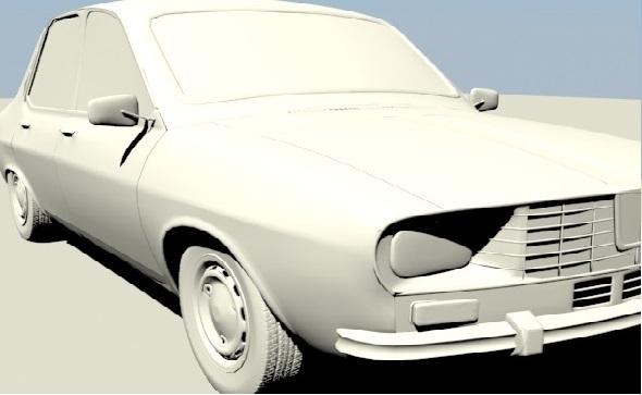 Dacia 1300 3D model - 3DOcean Item for Sale