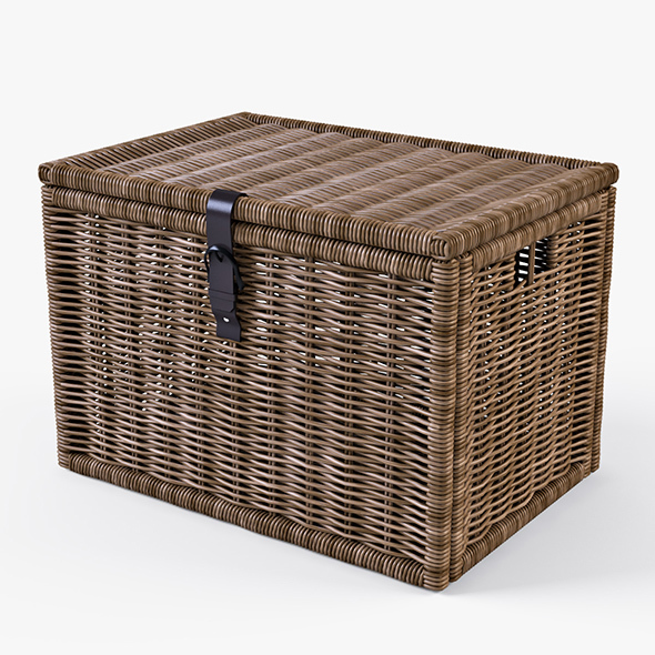 Wicker Rattan Chest Ikea Byholma - 3DOcean Item for Sale
