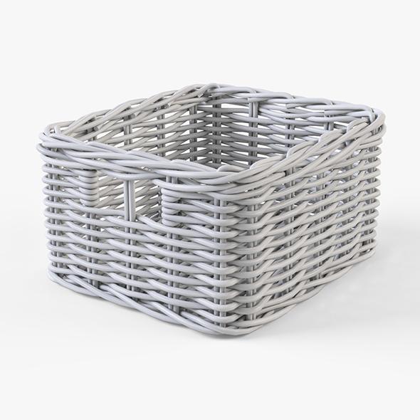Wicker Basket Ikea Byholma 1 White - 3DOcean Item for Sale