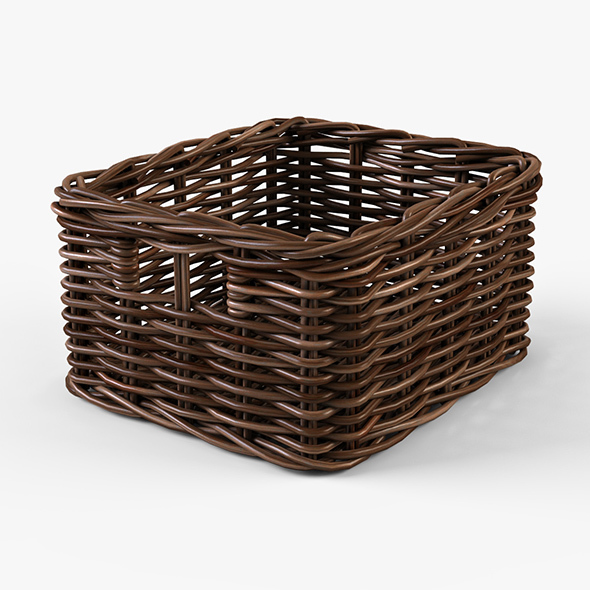 Wicker Basket Ikea Byholma 1 Brown - 3DOcean Item for Sale