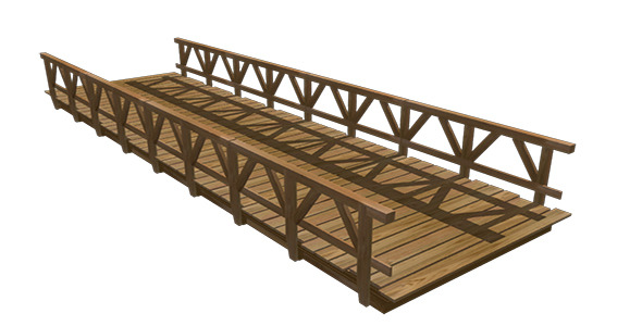 Wooden bridge  - 3DOcean Item for Sale