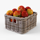 Wicker Apple Basket Ikea Byholma 1 Gray