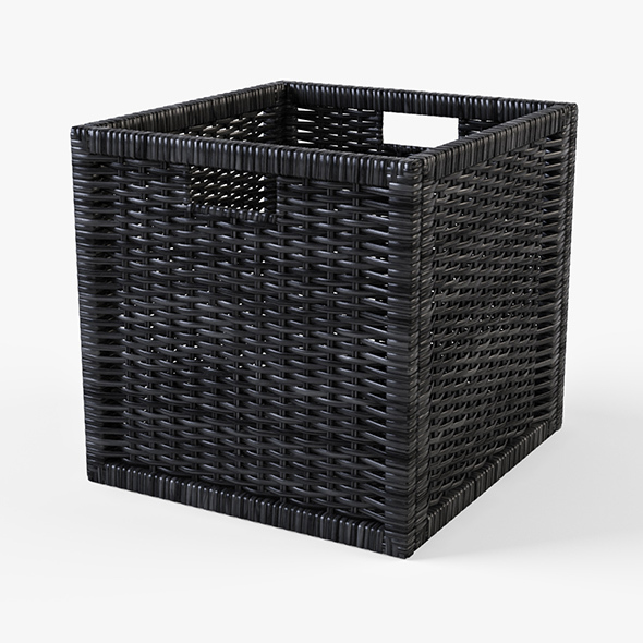3d model 3docean rattan basket ikea branas black color 14139533. Black Bedroom Furniture Sets. Home Design Ideas