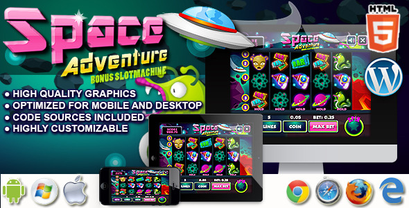 Download Slot Machine Space Adventure - Casino HTML5 game nulled download