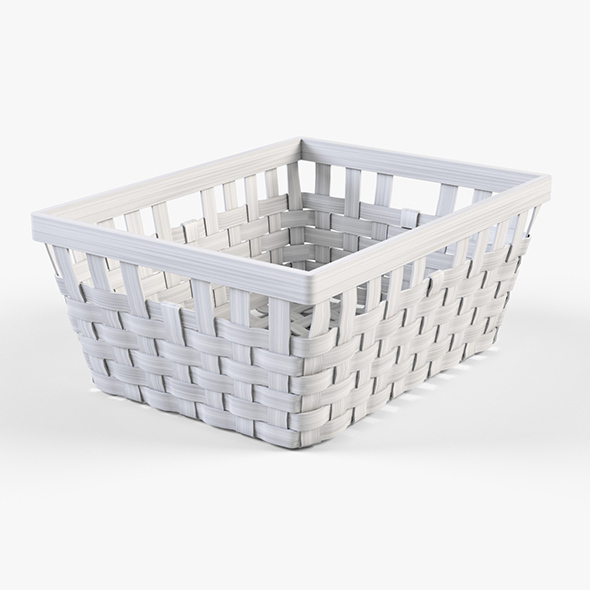 Wicker Basket Ikea Knarra 1 (White Color) - 3DOcean Item for Sale