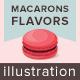 Macarons Flavors Illustration
