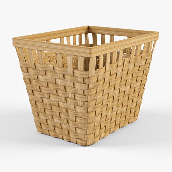 Wicker Basket Ikea Knarra 2 (Natural Color) - 3DOcean Item for Sale