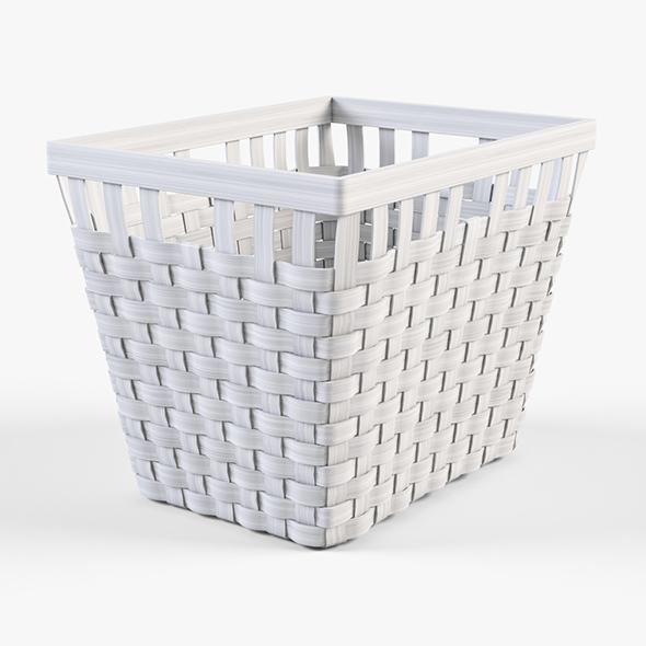 Wicker Basket Ikea Knarra 2 (White Color) - 3DOcean Item for Sale