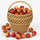 Wicker Basket 01 with Apples