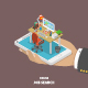 Online Job Searching Isometric Flat Vector