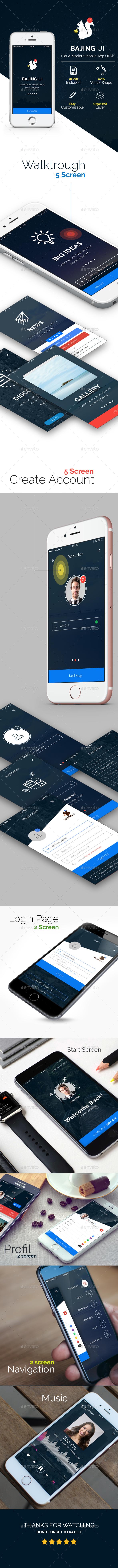 Bajing UI - Mobile App UI Kit (User Interfaces)