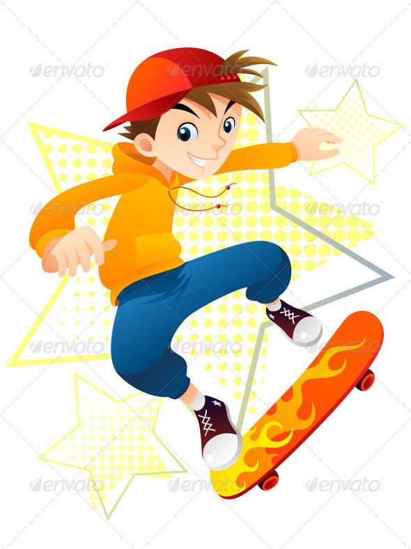 Skater Boy - Sports/Activity Conceptual