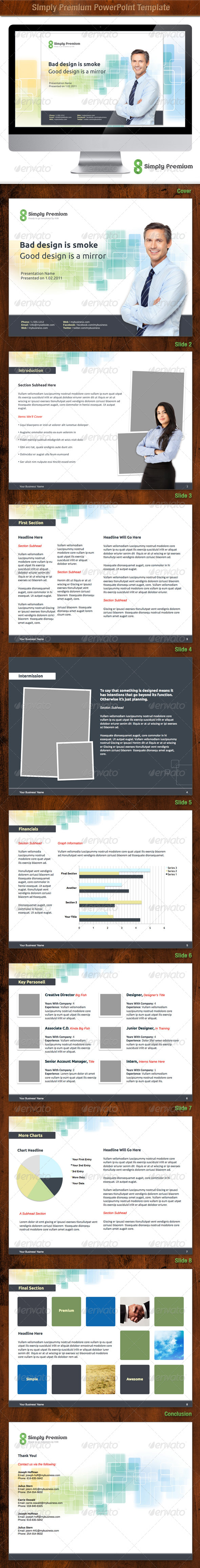 Simply Premium PowerPoint Template - Powerpoint Templates Presentation Templates