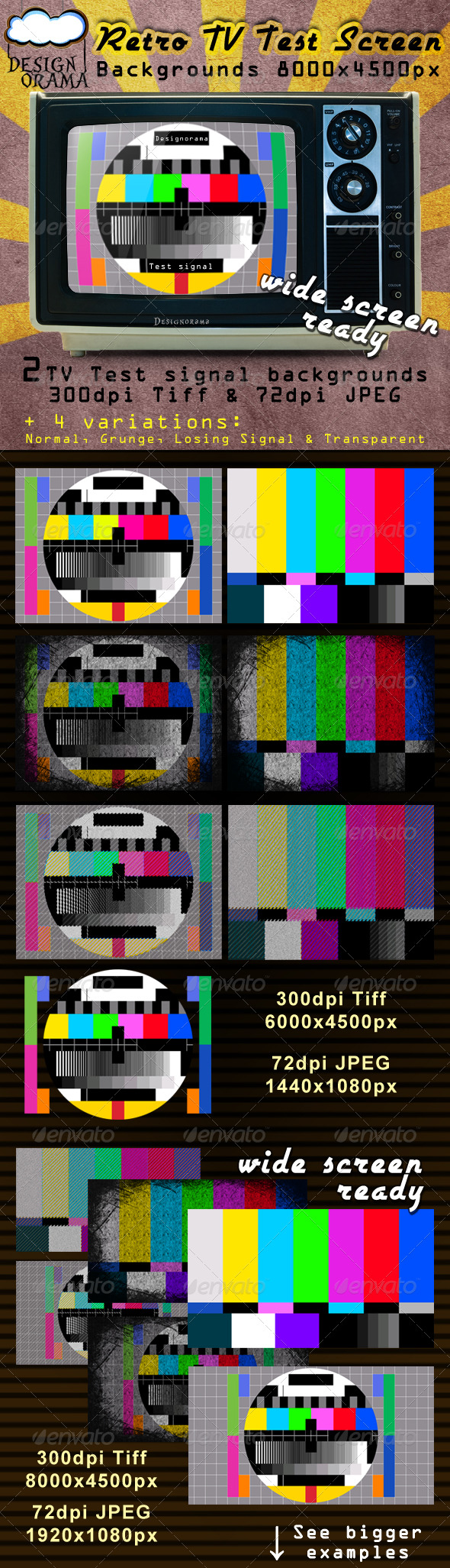 GraphicRiver Retro TV Test Screen 168073
