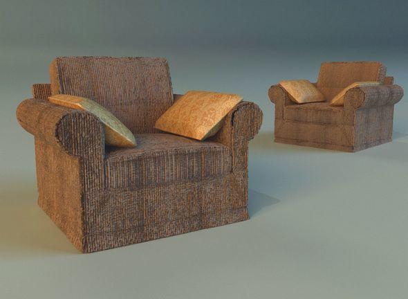 Armchear velor - 3DOcean Item for Sale