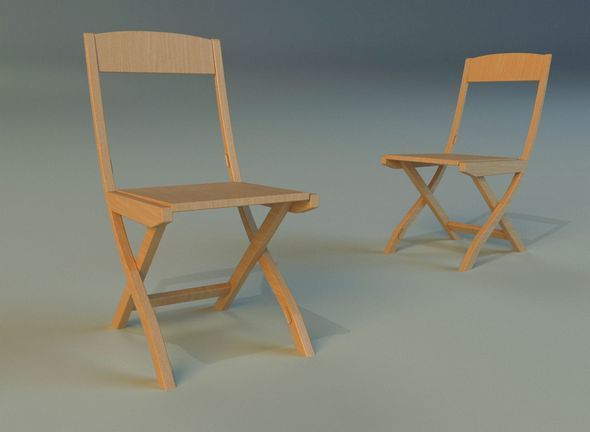 Chair folding - 3DOcean Item for Sale