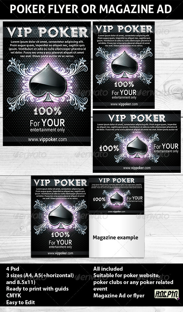 GraphicRiver Poker Magazine Ads or flyers Template 168113