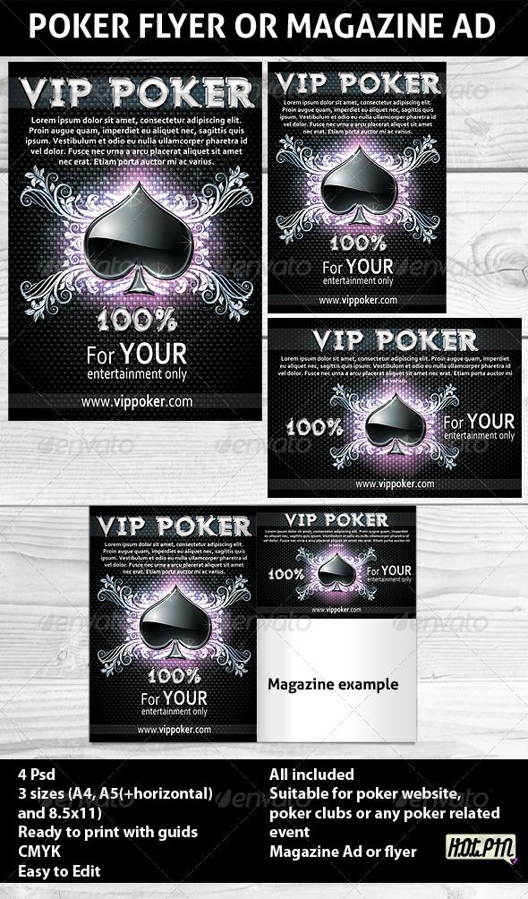 Poker night Flyer PSD