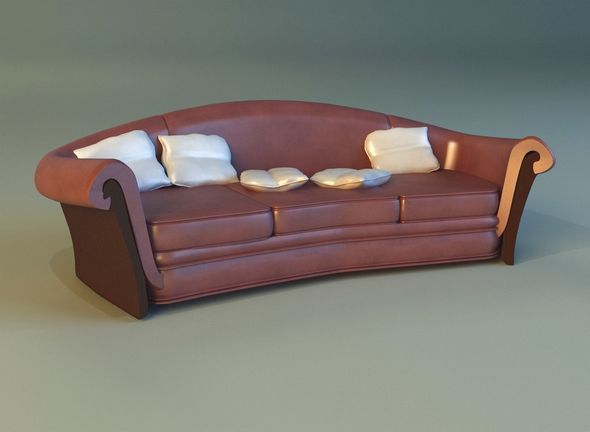 Sofa luxury leather classic - 3DOcean Item for Sale