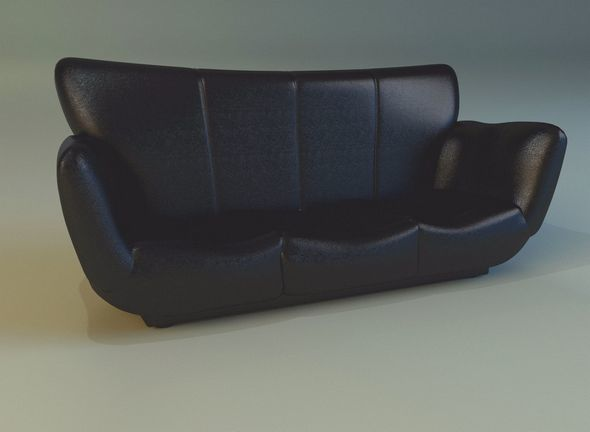 Sofa luxury leather black - 3DOcean Item for Sale