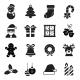 Christmas glyph vector icons