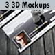 3 Realistic 3D Facebook Timeline Cover Mockups