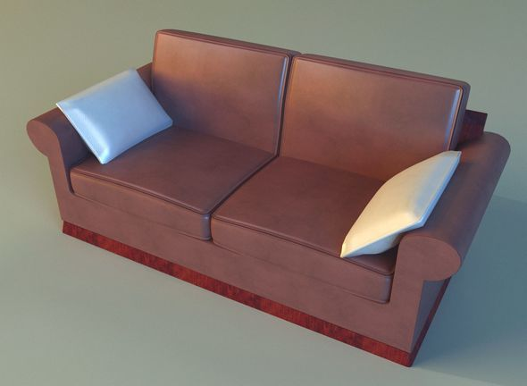 Sofa leather pillows - 3DOcean Item for Sale