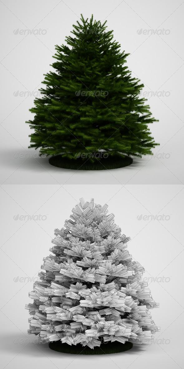 3DOcean CGAxis Evergreen Tree Fir 20 168141